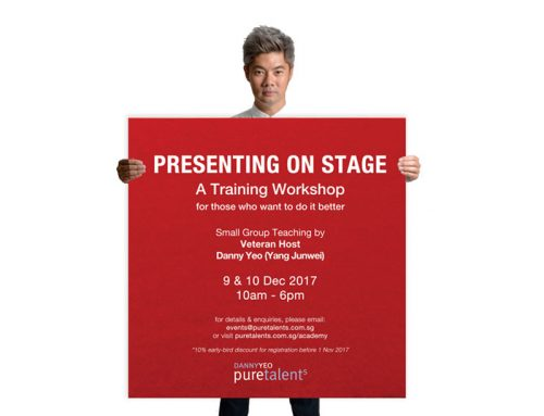 Pure Talents Academy – Presenting On Stage – A Training Workshop By Danny Yeo